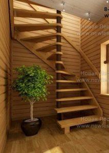 Винтовая лестница на опорном столбе (фото)